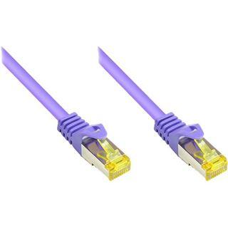 (€0,80*/1m) 40.00m Good Connections Cat. 7 Rohkabel Patchkabel S/FTP PiMF RJ45 Stecker auf RJ45 Stecker Violett halogenfrei/vergoldet