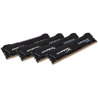 16GB HyperX Savage schwarz DDR4-2133 DIMM CL13 Quad Kit