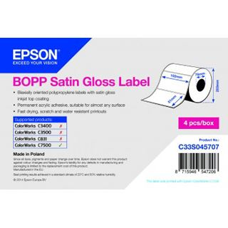 Epson Bopp Satin Glosslabel 102x51mm