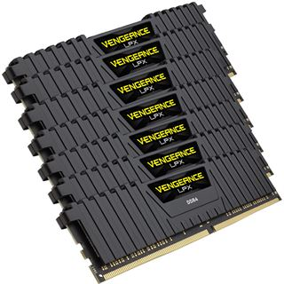 64GB Corsair Vengeance schwarz DDR4-2133 DIMM CL13 Octa Kit