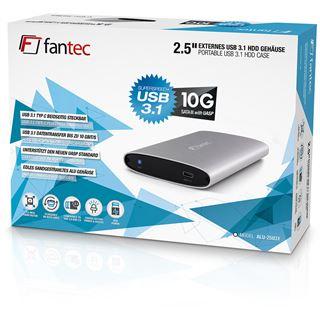 "Fantec ALU-25U31 2.5"" (6,35cm) USB 3.1 silber"