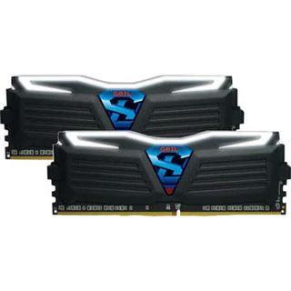 16GB GeIL Super Luce schwarz LED weiß DDR4-3000 DIMM CL15 Dual