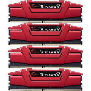 64GB G.Skill RipJaws V rot DDR4-2133 DIMM CL15 Quad Kit