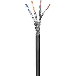 100.00m Good Connections Cat. 6 Patchkabel S/FTP PiMF auf Schwarz