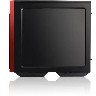 IN WIN 503 mit Sichtfenster Midi Tower ohne Netzteil schwarz/rot