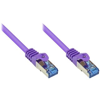 (€0,80*/1m) 25.00m Good Connections Cat. 6a Patchkabel S/FTP PiMF RJ45 Stecker auf RJ45 Stecker Violett halogenfrei/Rastnasenschutz