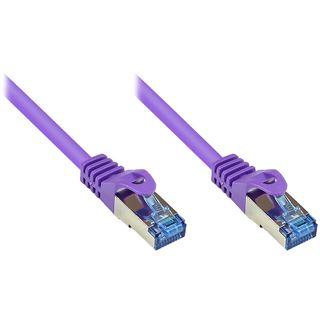 (€0,77*/1m) 40.00m Good Connections Cat. 6a Patchkabel S/FTP PiMF RJ45 Stecker auf RJ45 Stecker Violett halogenfrei/Rastnasenschutz