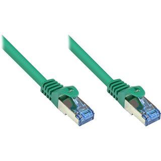 (€0,64*/1m) 50.00m Good Connections Cat. 6a Patchkabel S/FTP PiMF RJ45 Stecker auf RJ45 Stecker Grün halogenfrei/Rastnasenschutz