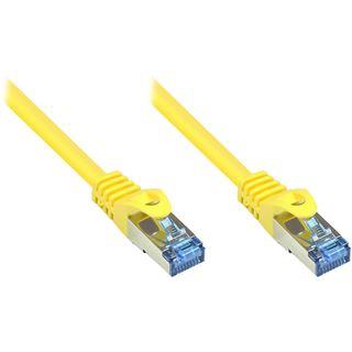 (€0,70*/1m) 50.00m Good Connections Cat. 6a Patchkabel S/FTP PiMF RJ45 Stecker auf RJ45 Stecker Gelb halogenfrei/Rastnasenschutz