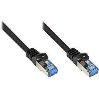 (€0,65*/1m) 20.00m Good Connections Cat. 6a Patchkabel S/FTP PiMF RJ45 Stecker auf RJ45 Stecker Schwarz halogenfrei/Rastnasenschutz