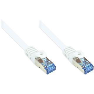 (€0,79*/1m) 15.00m Good Connections Cat. 6a Patchkabel S/FTP PiMF RJ45 Stecker auf RJ45 Stecker Weiß halogenfrei/Rastnasenschutz