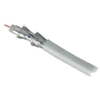 100.00m Good Connections Koaxial Spule 4-fach geschirmt Koax Stecker auf Koax Stecker Weiß