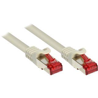 (€15,60*/1m) 0.25m Good Connections Cat. 6 Patchkabel S/FTP PiMF RJ45 Stecker auf RJ45 Stecker Grau PVC/Rastnasenschutz/vergoldet