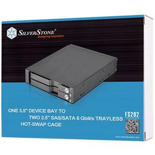"""Silverstone 3.5"""" x1 Laufwerk Bay für 2x 2.5"""" SAS/SATAIII"""