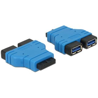 Delock USB3.0 Adapter Pinheader auf 2x A Buchse/Buchse nebeneinander