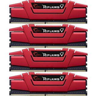32GB G.Skill RipJaws V rot DDR4-3200 DIMM CL15 Quad Kit