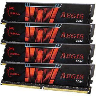 32GB G.Skill Aegis DDR4-2133 DIMM CL15 Quad Kit
