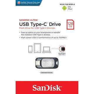128 GB SanDisk Ultra silber USB 3.0