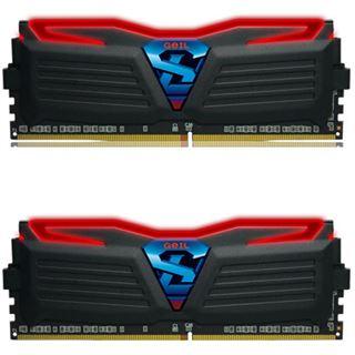 8GB GeIL Super Luce LED rot DDR4-2400 DIMM CL15 Dual Kit