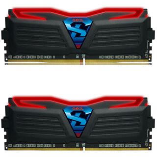 16GB GeIL Super Luce LED rot DDR4-2400 DIMM CL15 Dual Kit