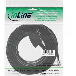 (€0,25*/1m) 20.00m InLine TAE-N Verbindungskabel TAE-N Stecker auf RJ11 Stecker Schwarz