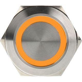 DimasTech Vandalismustaster 25mm - Silverline - orange