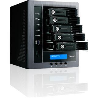 Thecus N5810PRO Tower 5bay Intel CPU 4GB RAM 5x RJ45