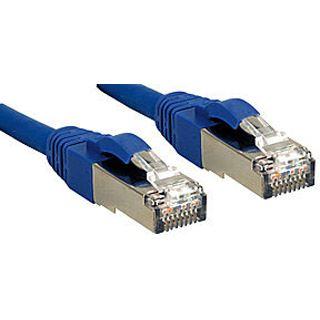 (€4,95*/1m) 2.00m Lindy Cat. 6 Patchkabel S/FTP PiMF RJ45 Stecker auf RJ45 Buchse Blau geschirmt/vergoldet