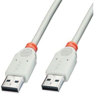 3.00m Lindy USB2.0 Verlängerungskabel USB 2.0 USB A Stecker auf USB A Stecker Weiß/Orange