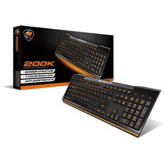 Cougar 200K USB Englisch (US) schwarz (kabelgebunden)