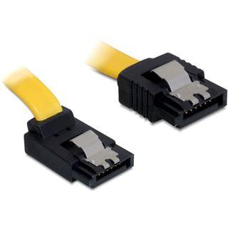 (€39,00*/1m) 0.10m Delock SATA 6Gb/s Anschlusskabel SATA Stecker auf SATA Stecker Orange