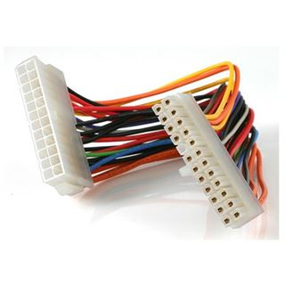 (€39,50*/1m) 0.20m Startech ATX Verlängerungskabel 24pol Stecker auf 24pol Buchse Weiß