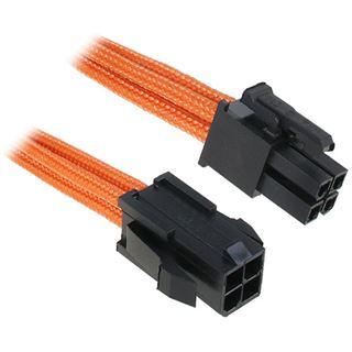 BitFenix 4-Pin ATX12V Verlängerung 45cm - sleeved orange/schwarz