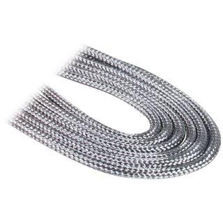 BitFenix 3-Pin Verlängerung 30cm - sleeved silber/schwarz