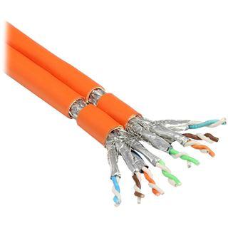 (€1,26*/1m) 100.00m Good Connections Cat. 7 Rohkabel Verlegekabel S/FTP PiMF 1000MHz auf Orange Duplex/geschirmt/halogenfrei