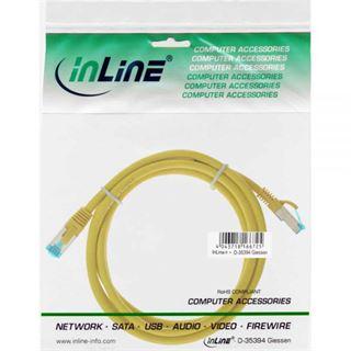 (€9,80*/1m) 0.50m InLine Cat. 6a Patchkabel S/FTP PiMF RJ45 Stecker auf RJ45 Stecker Gelb halogenfrei