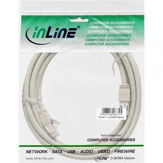 (€15,80*/1m) 0.50m InLine Cat. 6 Patchkabel S/FTP PiMF RJ45 Stecker auf RJ45 Stecker Grau halogenfrei / Kupfer / PVC