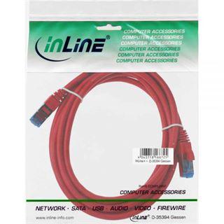 (€2,63*/1m) 3.00m InLine Cat. 6a Patchkabel S/FTP PiMF RJ45 Stecker auf RJ45 Stecker Rot halogenfrei