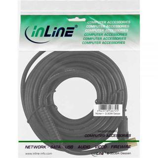 (€0,50*/1m) 20.00m InLine Antenne Anschlusskabel Premium-Line IEC-Stecker auf IEC-Buchse Schwarz doppelt geschirmt