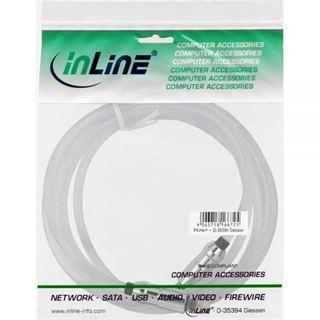 (€13,80*/1m) 0.50m InLine Audio Anschlusskabel Toslink Stecker auf Toslink Stecker Transparent