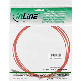 (€1,98*/1m) 5.00m InLine LWL Duplex Patchkabel 50/125 µm OM2 LC Stecker auf LC Stecker Orange