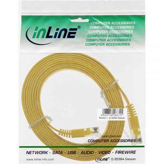 (€1,95*/1m) 2.00m InLine Cat. 6 Patchkabel flach U/UTP RJ45 Stecker auf RJ45 Stecker Gelb