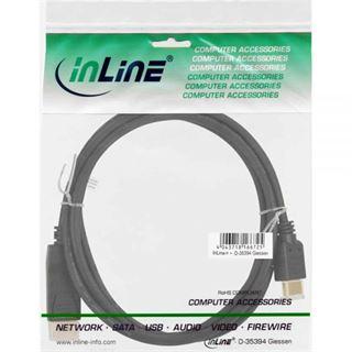 (€4,95*/1m) 2.00m InLine Displayport 1.1 Adapterkabel Displayport Stecker auf HDMI-Stecker Schwarz vergoldet