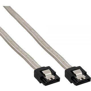(€26,00*/1m) 0.15m InLine SATA Anschlusskabel SATA Stecker auf SATA Stecker Transparent