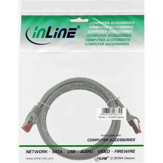 (€13,00*/1m) 0.30m InLine Cat. 6 Patchkabel S/FTP PiMF RJ45 Stecker auf RJ45 Stecker Grau PVC