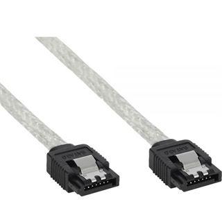 (€16,33*/1m) 0.30m InLine SATA 6Gb/s Anschlusskabel SATA Stecker auf SATA Stecker Transparent