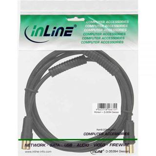 (€0,57*/1m) 5.00m InLine Antenne Anschlusskabel Premium-Line IEC-Stecker auf IEC-Buchse Schwarz doppelt geschirmt