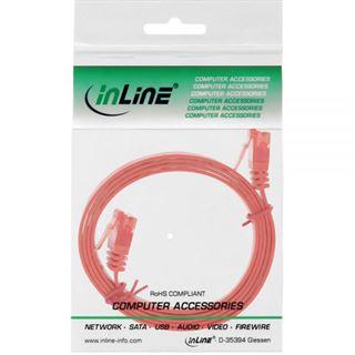 (€2,60*/1m) 1.50m InLine Cat. 6 Patchkabel flach U/UTP RJ45 Stecker auf RJ45 Stecker Rot