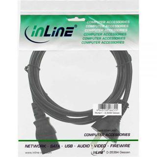 (€3,83*/1m) 1.80m InLine Stromkabel Stecker China auf Kaltgeräte Stecker C13 Schwarz