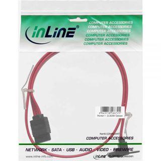 (€9,80*/1m) 0.50m InLine SATA 6Gb/s Anschlusskabel gewinkelt links SATA Stecker auf SATA Stecker